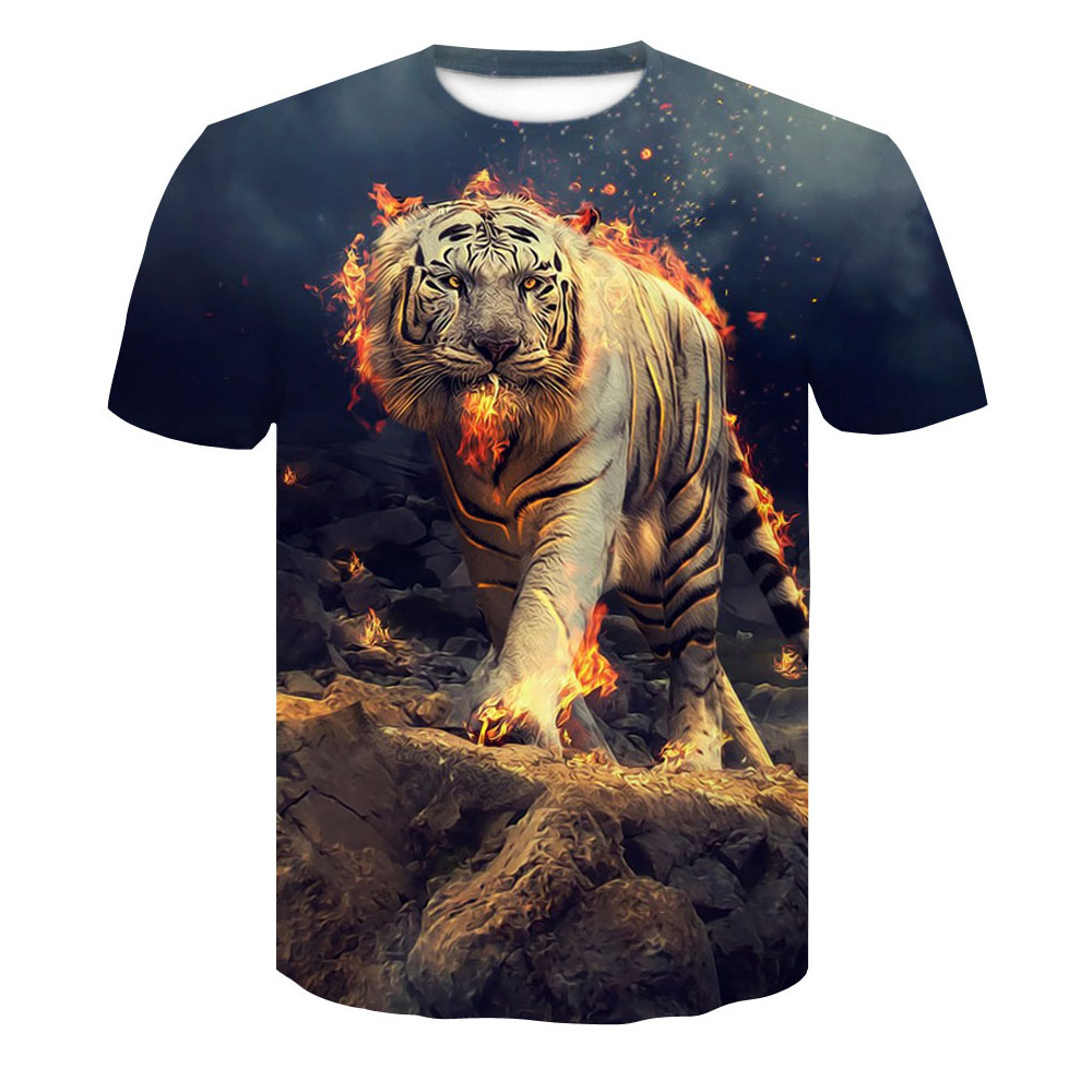 Brand 3d T-shirt Animal Lion Shirt Camiseta 3d T Shirt Men Funny T Shirts Mens Clothing Casual Fitness TeeTop Tiger Dropship