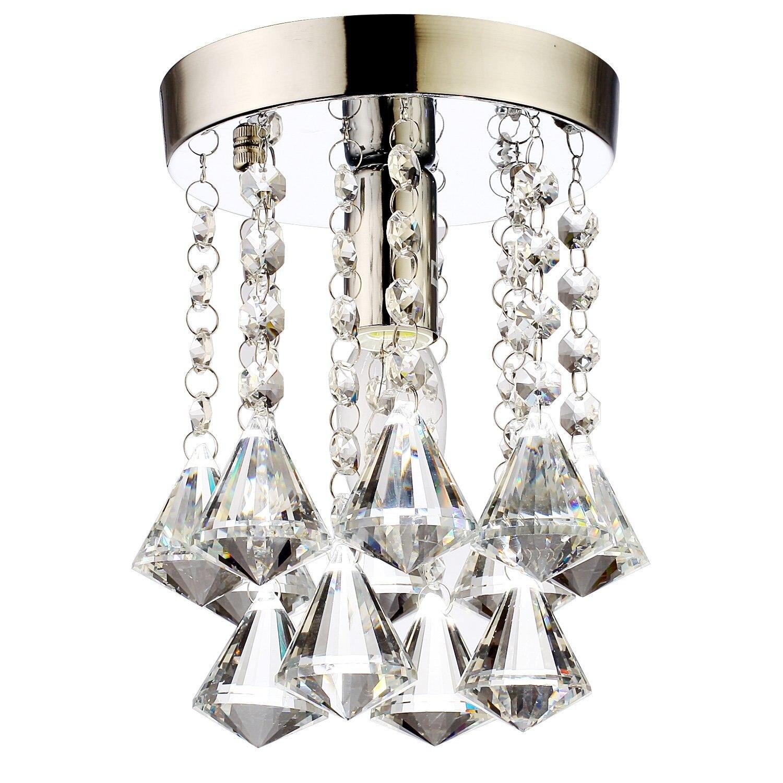 Modern LED Crystal Chandeliers Pendant Lamp Aisle Lights Mini Chandelier Rain Drop Lighting K9