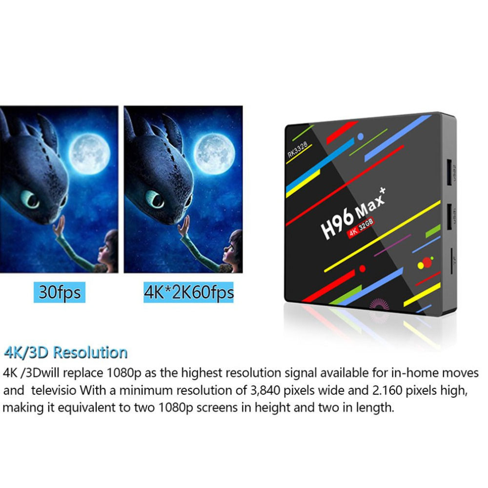 H96 max plus 4+32G HD 4K 100M WiFi 2.4G tvbox iptv box TV BOX for Android 8.1 Video decoder TF cards smart android tv box