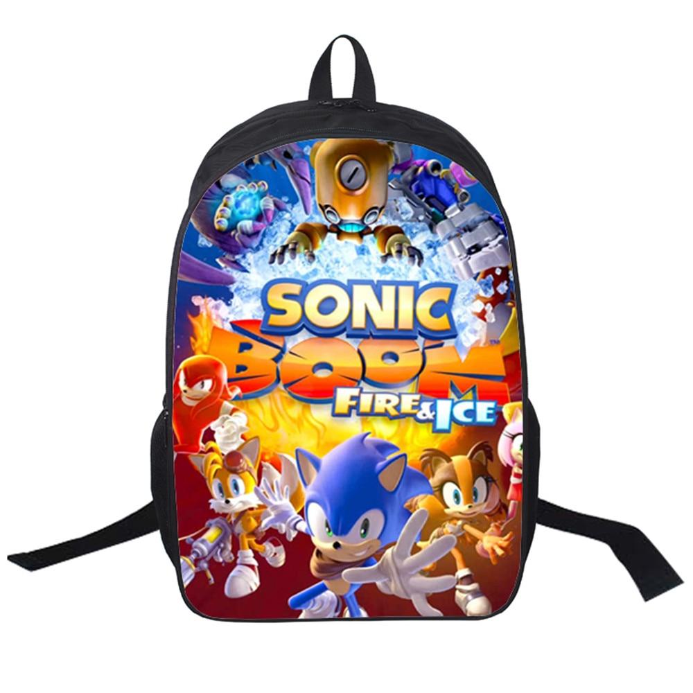 2018 Women Bags moive Sonic Boom Backpack Students School Bag For Girls Boys Rucksack mochila Private customize sonic boom 2