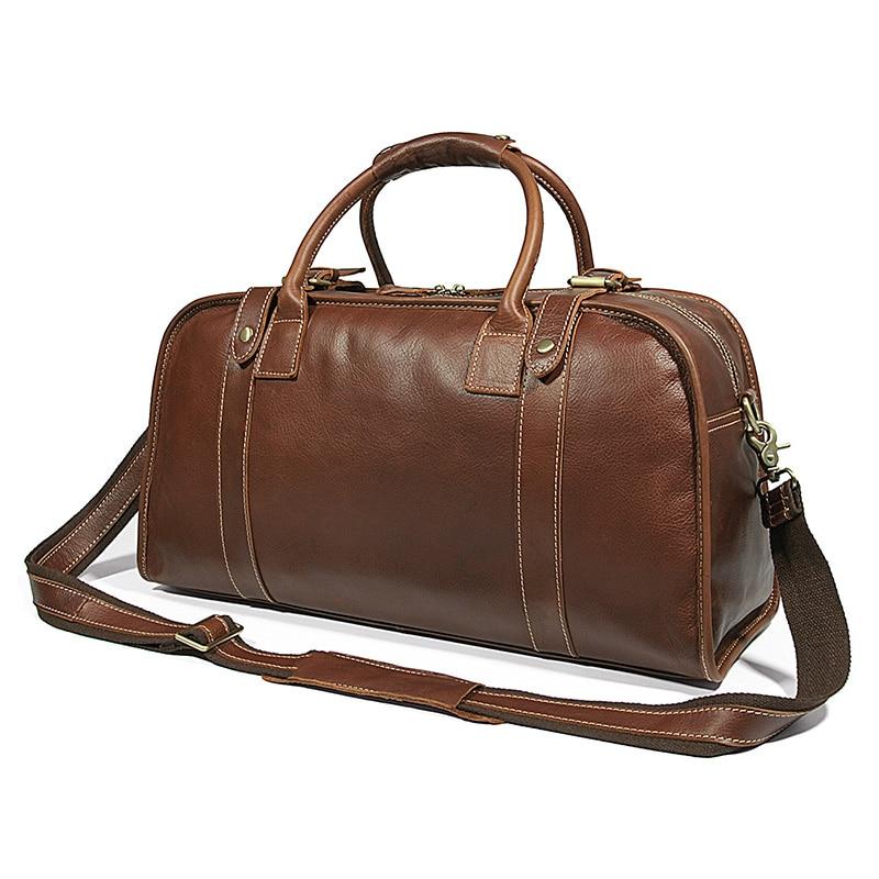 Men Cowhide Large Capacity Travel Bag For Man Handbag 2018 Male Travel Duffle weekend durable Shoulder Crossbody Laptop bags