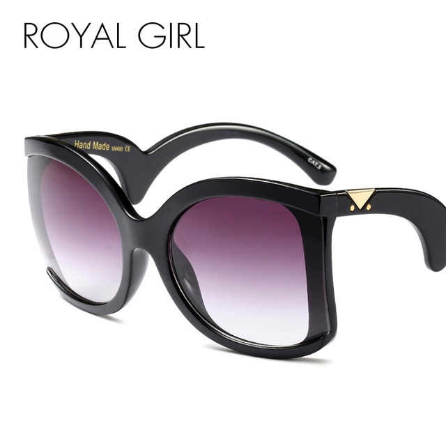 ROYAL GIRL Brand Designer Butterfly Sunglasses for women oversize Retro wrap Sun glasses UV400 Shades ss127 1