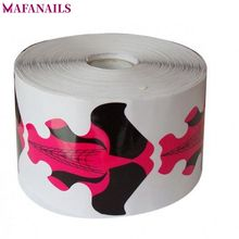300pcs/Roll Nail Art Extension Sticker Polish Gel Tips Large Size Guide Form Manicure Styling Tools