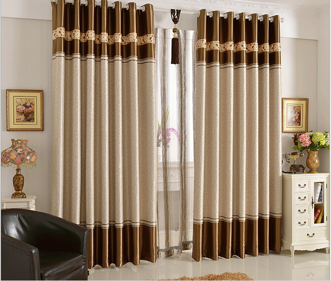 luxury living room curtains. Shading Curtains Jacquard Luxury Living Room Kitchen Voile Crochet  Divider Factory Direct brown in from Home Garden on