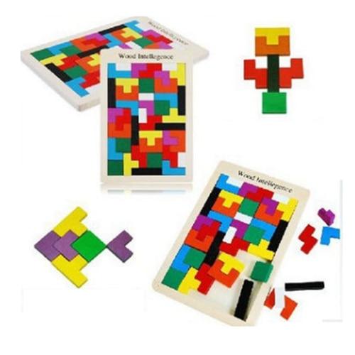 Rompecabezas de madera para niños Toy Tangram Puzzle Rompecabezas - Juegos y rompecabezas - foto 3