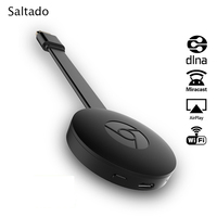 Saltado Streaming Dongle Mirroring DLNA Miracast Airplay WiFi Display Dongle Fcast Smart TV Stick Dual Core