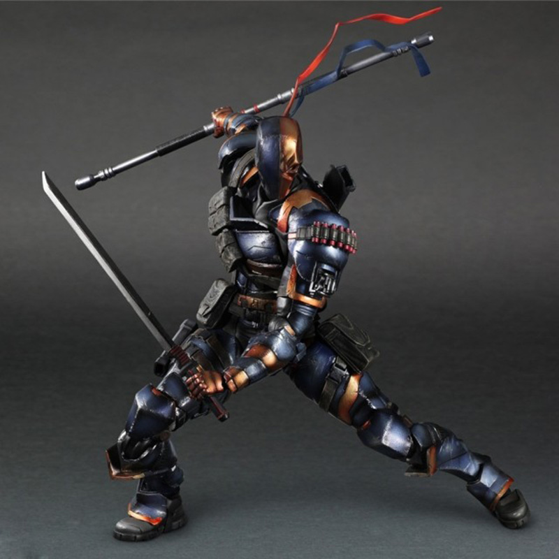 ZXZ Play Arts Kai Comics Batman Arkham Origins Deathstroke PVC Action Figure Collectible Model Toy 26cm Adult For Collection batman the arkham city arkham origins the joker pvc action figure collectible model toy new in box wu439