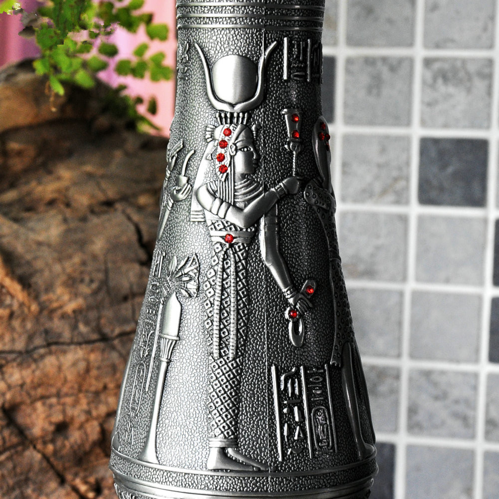 Ancient Egyptian Metal Garden Vase Retro Metal Tabletop Vase Antique Metal  Flower Vase Vintage Style Home Wedding Alloy Ornament In Vases From Home U0026  Garden ...