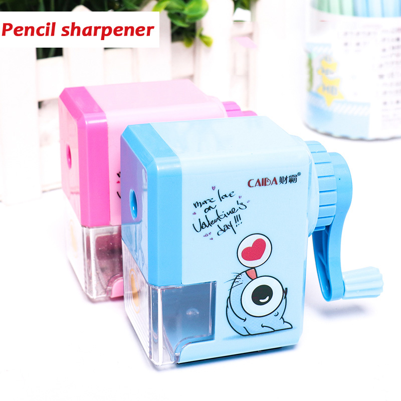 Pencil Sharpener Mechanical-Accessory Hand-Crank School-Supply Muji-Print Kids Creative