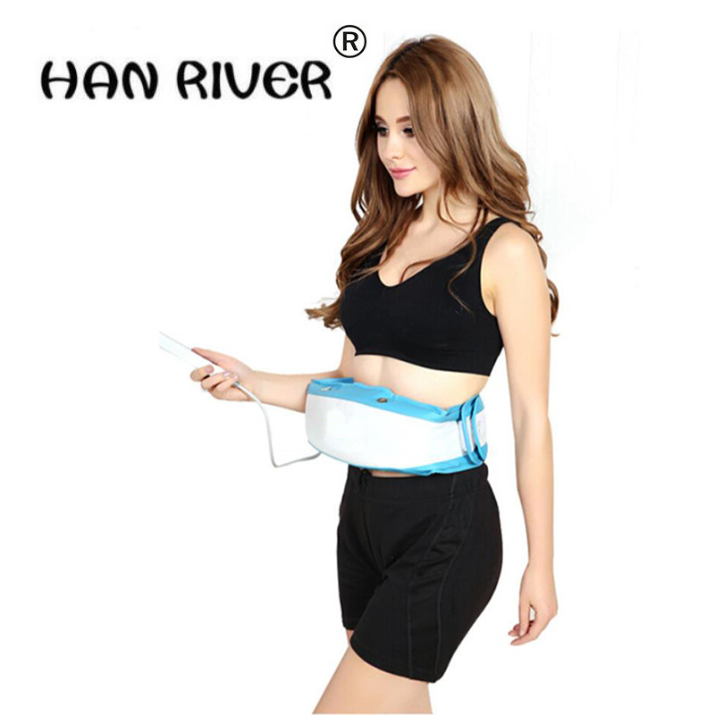цены HANRIVER Women Electric Waist slimming Belt BellyTummy Slimming Sauna Belt Vibration Lose Weight Massage Belt Fat Burner