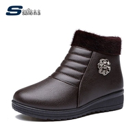 SSALENA Girls Boots Women Vintage Retro Combat Boots Famous Designer Women Warm Shoes A882