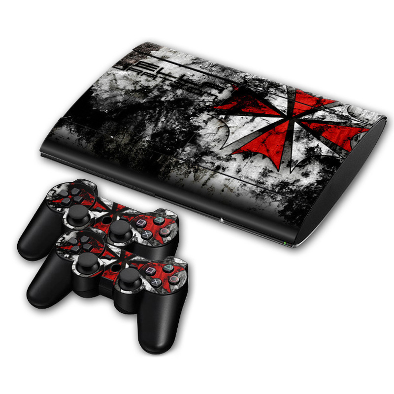 removable vinyl decal skins game sticker for PS3 super slim 4000 protector