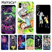 Rick E Morty MaiYaCa Dos Desenhos Animados Na Venda! Luxo Caso de telefone Legal para Apple iPhone 5 8 7 6 6S Plus X XS max 5S SE XR cobrir(China)