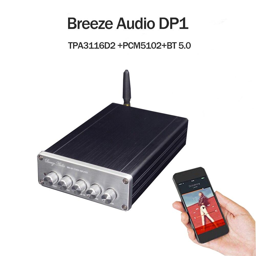 Amplificateur audio 2019 breeze bluetooth 5.0 TPA3116D2 amplificateur Audio de puissance numérique 2.1 amplificateur de caisson de basses Audio stéréo 50w + 50W