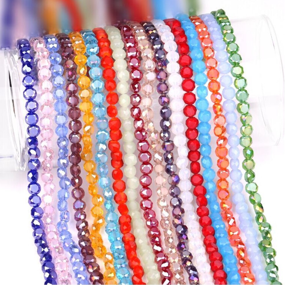Czech Crystal Glass Faceted Rondelle Beads 8 x 10mm Pale Pink 70 Pcs AB Crafts