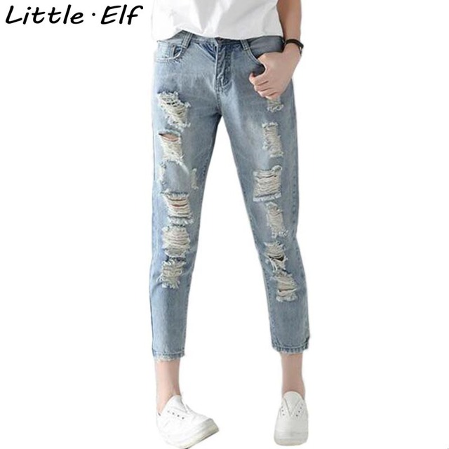 Aliexpress.com : Buy New Denim Women 2016 LoW Waist Ripped Jeans ...