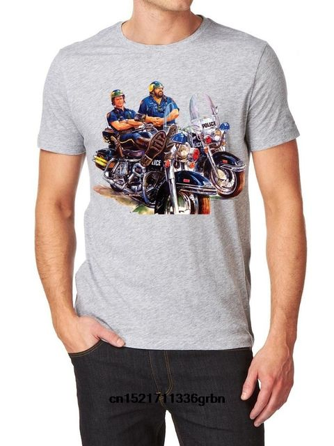 Men T shirt Bud Spencer Terence Hill Logo Fruit Of The Loom s T Shir Grey funny t-shirt novelty tshirt women