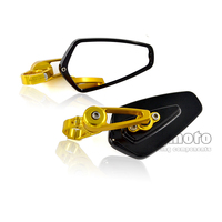 RM 061B BK BK 22mm New Universal Pair Motorcycle CNC Aluminum Motos Rearview Mirror Rear View