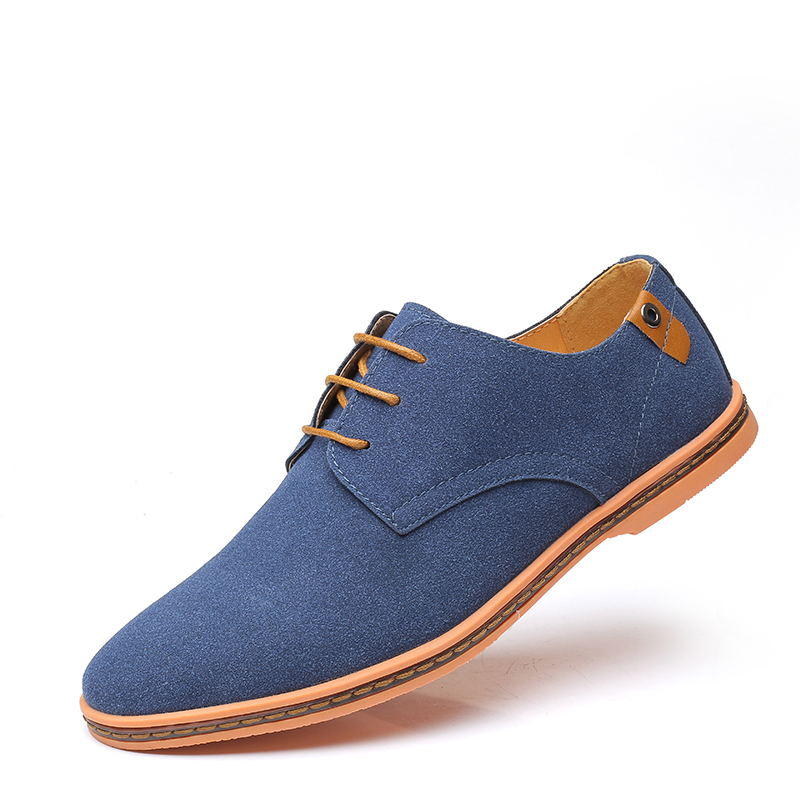Luxury Mens Shoes Casual   leather   Shoes Men cow   Suede   Oxfords Italian Sneakers Men Flats formal shoes men zapatos de hombre