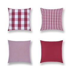 2Pcs Wedding Party Gifts Cushion Cover Nordic Fashion Cotton Linen Stripe Plaid Decor Office Home Car sofa Pillowcase 45X45cm