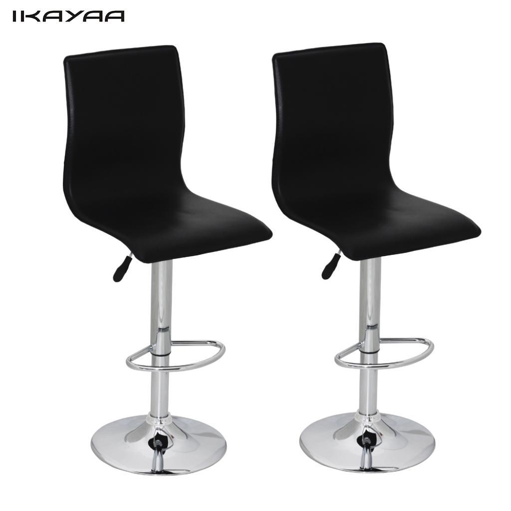ikayaa sillas de bar con respaldo alto negro pvc unidades sillas de bar es la
