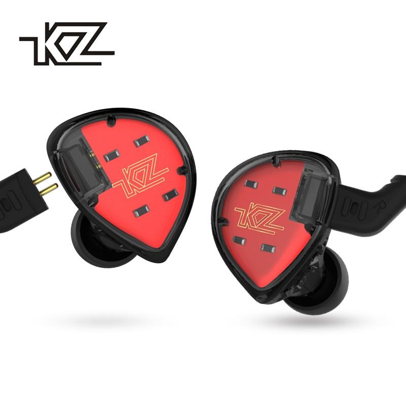 KZ ES4 Monitors Armature And Dynamic Hybrid Headset Ear Earphone Earbuds HiFi Bass Noise Cancelling Ear Hooks Headphones zs10 6