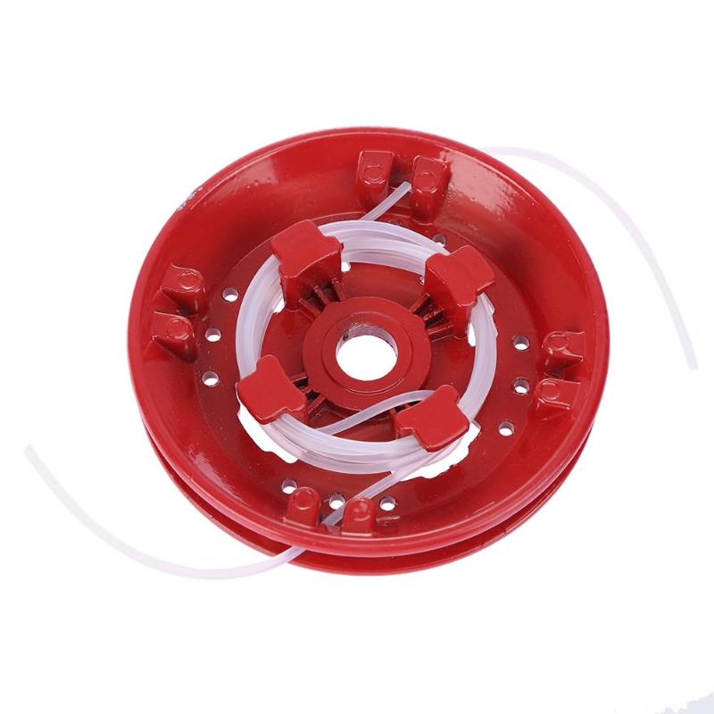 Fixed Line Aluminum Rustproof Grass Trimmer Head String Saw Grass Brush Cutter Parts Home Garden Tool Supplies
