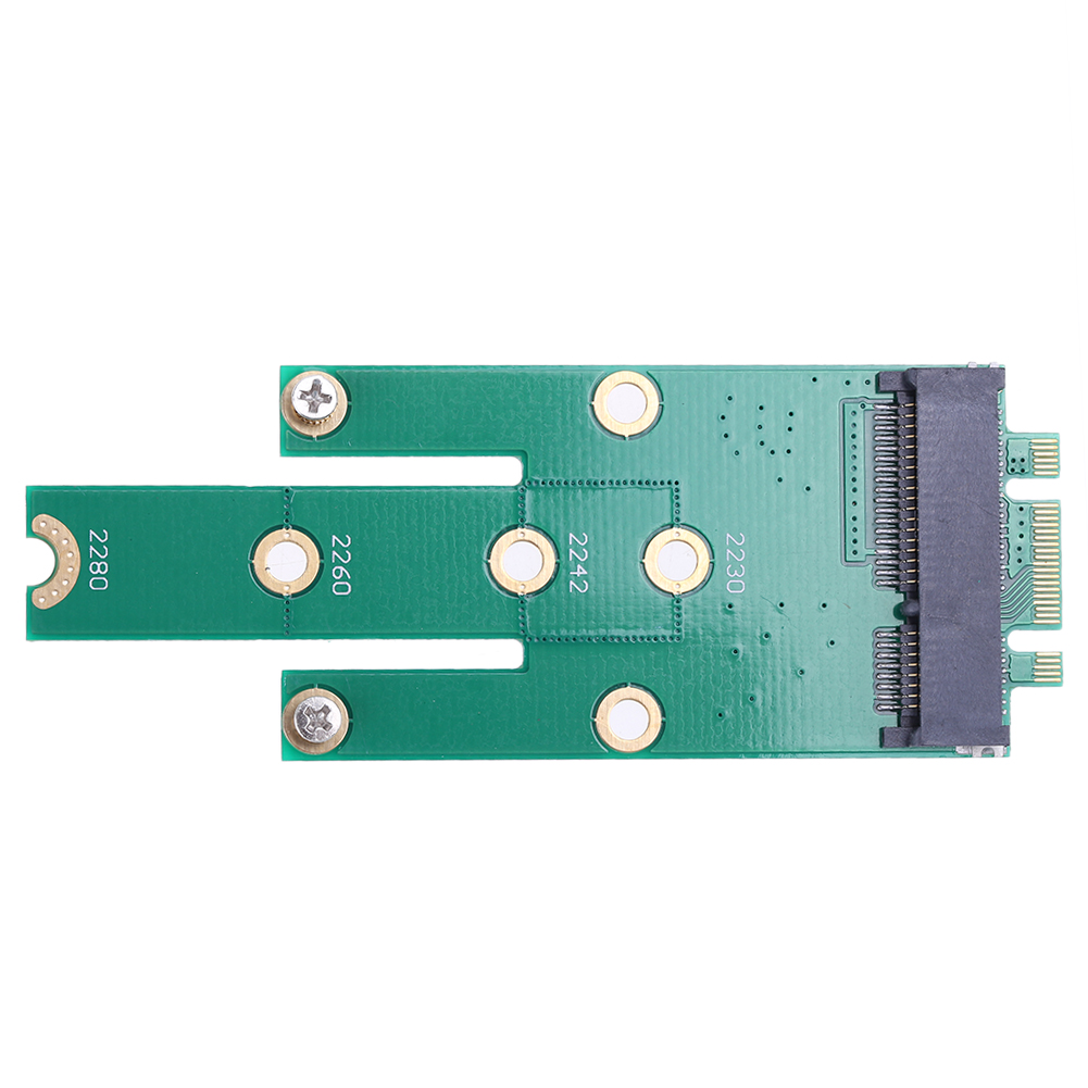 NGFF M.2 B + M Key to <font><b>mSATA</b></font> Mini PCI-E PCI-Express <font><b>SATA</b></font> 3.0 SSD Male Converter <font><b>Adapter</b></font> Card For 2242/2260/2280 m2 ngff SSD image