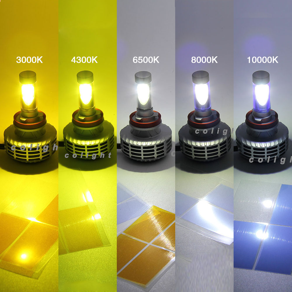 CO LIGHT 1 Pair Car Light Source H4 Led Bulb with High Low H7 H11 9006 Single Beam for Auto Fusion/Ram/Camry/Accord 5 Color Temp 12v led light auto headlamp h1 h3 h7 9005 9004 9007 h4 h15 car led headlight bulb 30w high single dual beam white light