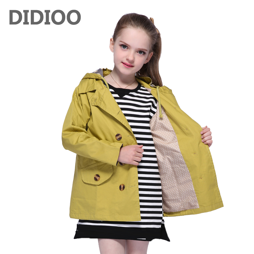 Teenage Girls Trench for Kids Coats Big Girls Double Breasted Jackets Child Outerwear Autumn Infant Windbreaker 8 10 12 14 YearsTeenage Girls Trench for Kids Coats Big Girls Double Breasted Jackets Child Outerwear Autumn Infant Windbreaker 8 10 12 14 Years