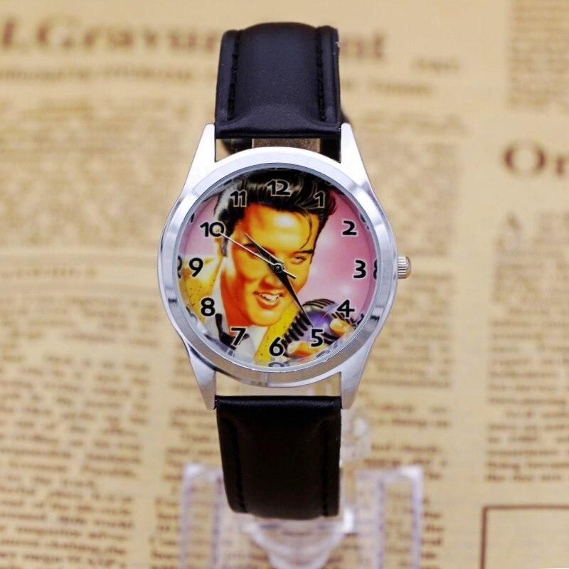 Men Women Children Pretty The Elvis Presley Cartoon Lovely Watch Best Fashion Casual Simple Quartz Leather Watches