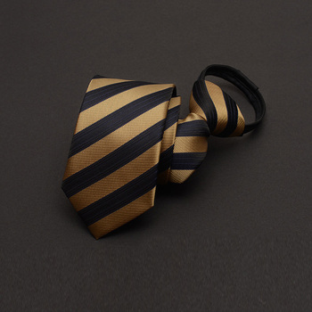 2019 New Zipper Men Tie Fashion Wedding Business Casual Work Party Necktie Striped Narrow 6CM Ties For Men with Gift Box Packing