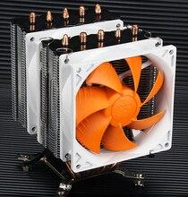 Для AMD Цпу Intel 5 медных тепловых труб тихий башни двумя вентиляторами Охлаждения радиатора поддерживает 775/1150/1155/1156/1366 AM2 AM3 FM2