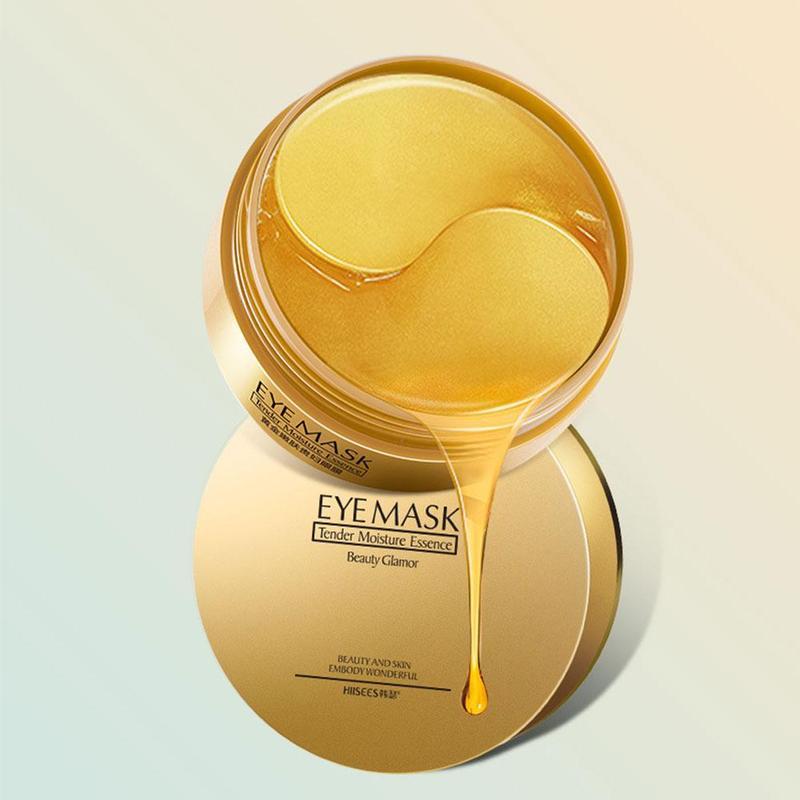 60 pçs ouro/algas colágeno máscara de olho rosto anti rugas gel sono máscara de ouro remendos de olho colágeno hidratante máscara de olho cuidados com os olhos 4