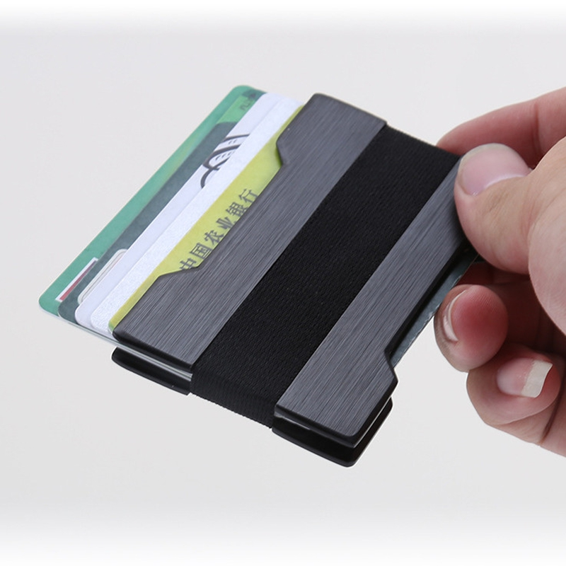 Slim Aluminum Rfid ID Business Card Holder Wallet Men Women Double ...