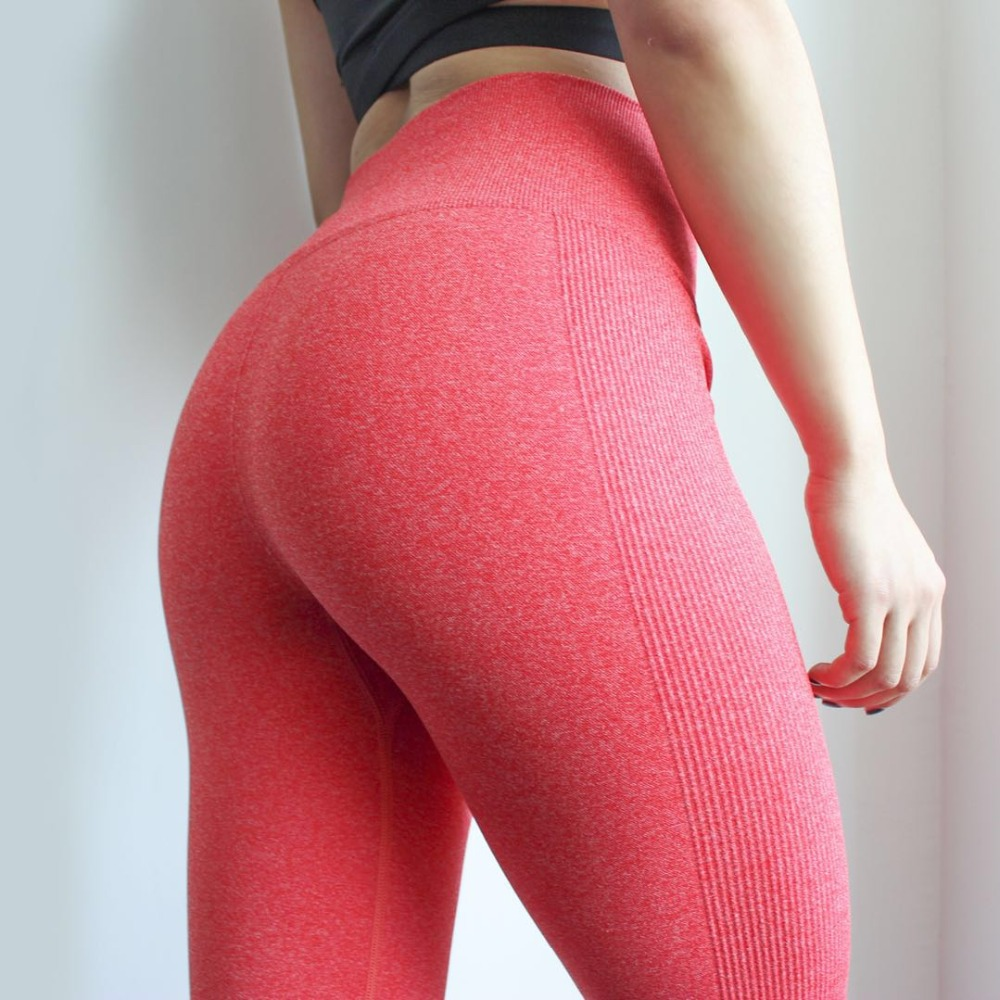DutteDutta Women High Elastic Fitness Sport Leggings Yoga Pants Slim Running Tights Sportswear Sports Pants Trousers Clothing(China)