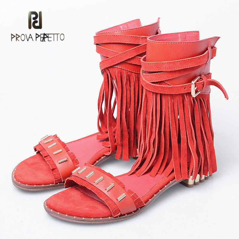 Prova Perfetto New Arrival Frosting Cow Leather Flat Casual Sandals Open Toe Fashion Solid Color Fringe Rome Style SandalsProva Perfetto New Arrival Frosting Cow Leather Flat Casual Sandals Open Toe Fashion Solid Color Fringe Rome Style Sandals