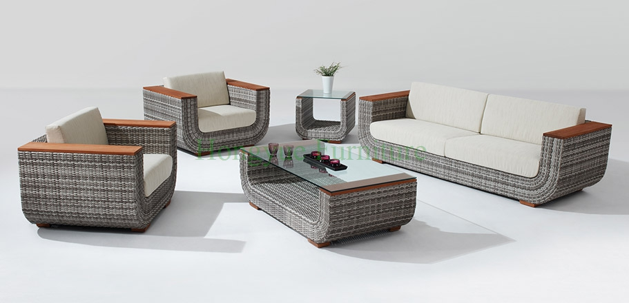 Aliexpress.com : Buy Living Room Rattan Sofa Set Furniture With Teakwood  Armrest From Reliable Rattan Sofa Sets Suppliers On Hongyue Cane Skill  Furniture Part 57