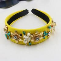 Barokke vintage mode runway sieraden bruiloft haaraccessoires gem angel crown hoofdband voor vrouwen bloemen crystal hoofddeksels haar