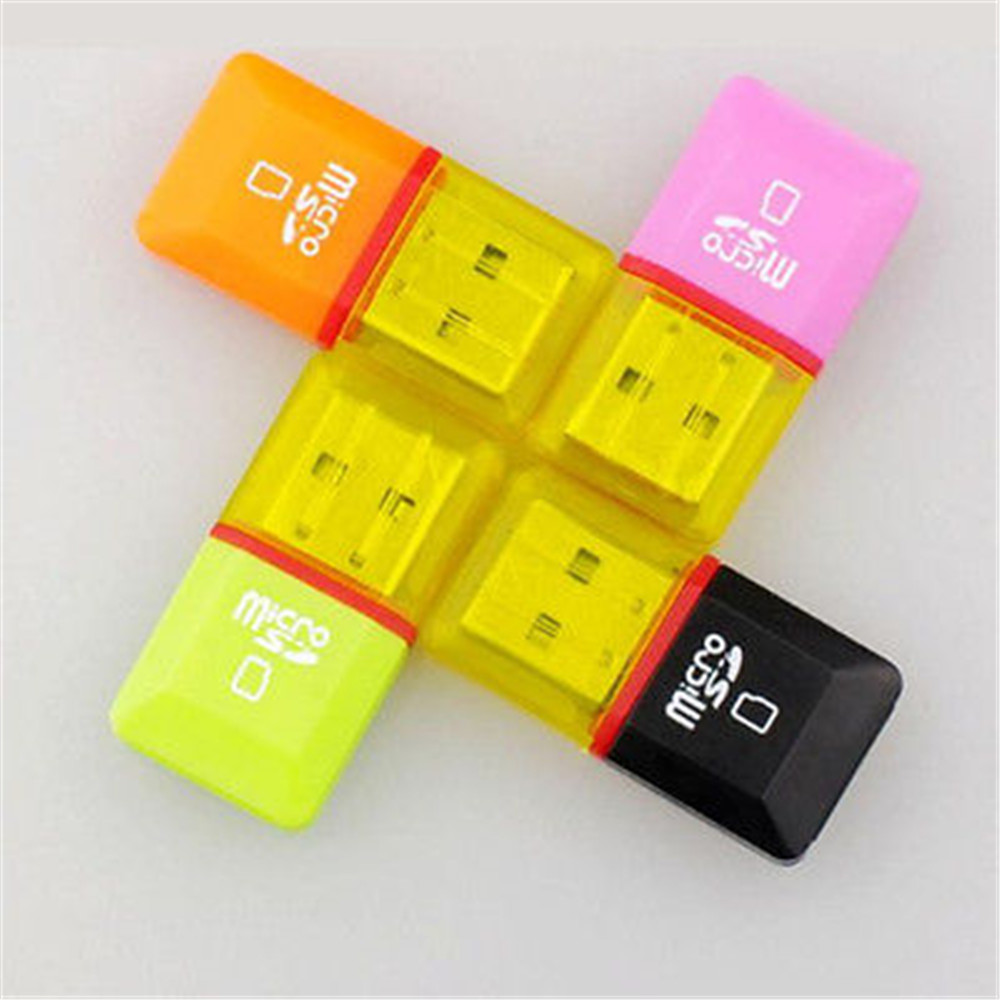 USB 2.0 Micro SD SDHC TF Flash Memory Card Reader Mini Adapter For Laptop