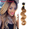 7A Dark Roots Blonde Hair Brazilian Virgin Hair Ombre Brazilian Hair 4 Bundles Brazilian Body Wave Ombre Human Hair Extensions