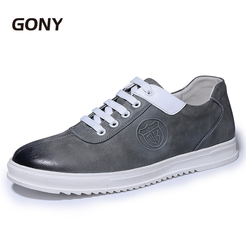 Men's Genuine Leather Casual Shoes Make Taller High 6 CM Height Increasing Elevator Skate Shoes for Daily Wear 2 36 inches taller height increasing elevator shoes black blue red casual leather shoes soft sole soft surface driving shoes