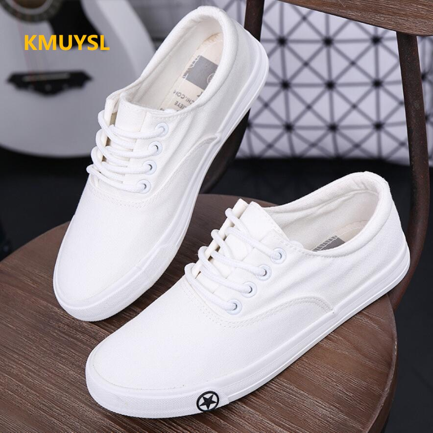 2017 New Spring and Summer Students Female Canvas Shoes Korean Version Of The Small White Shoes Tie Trend Flat Shoes 2018the new women s patent leather and shoes classic korean version of the classic korean shoes red wedding shoes