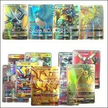 60, 100-200 шт, битва, торговля, блестящие карты pokemones, игрушка, Мега Экс, GX карты, Коллекция игр, Carte, игрушки, подарок для детей