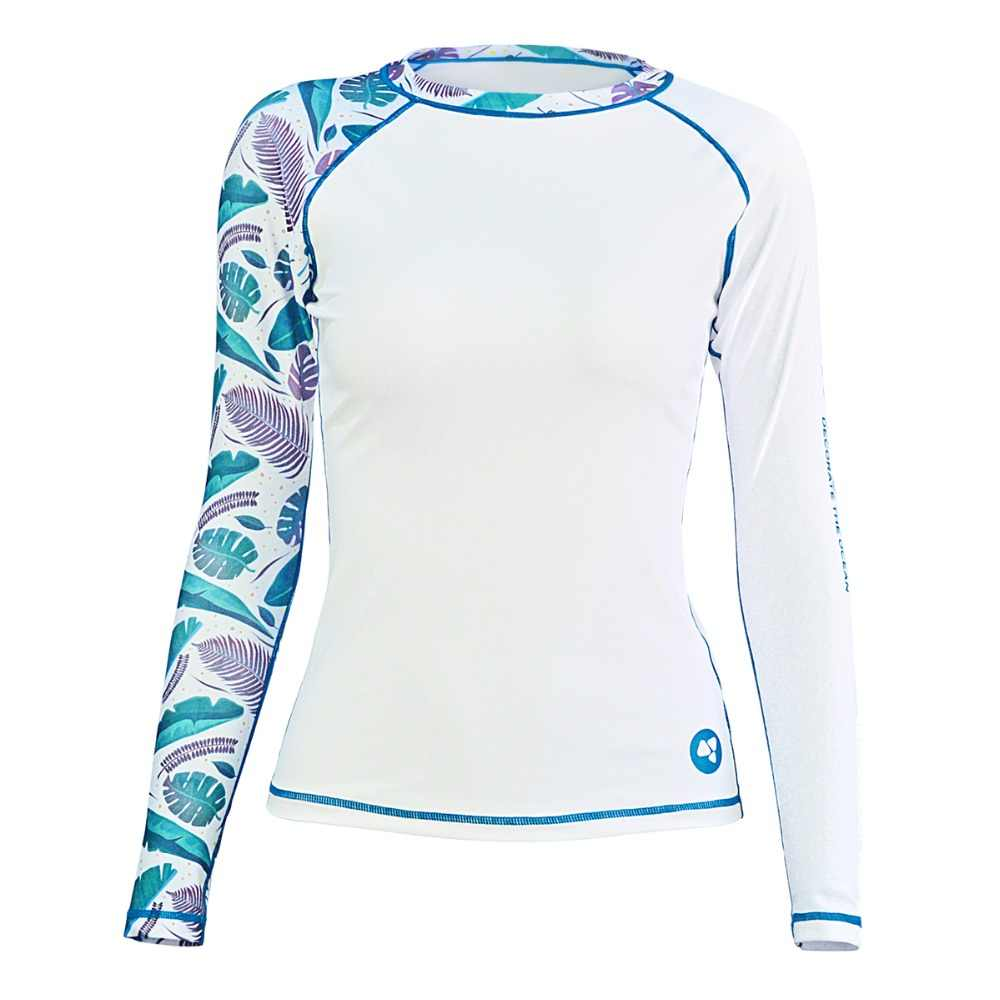 Layatone Rash Guard Women Long Sleeves Swimwear Swimsuit UV 50+Swimming Surfing Bathing Suit Sport Beach Fitness Gym Yoga Shirts