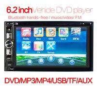 Universal 6.2 inch 2 Din Car DVD HD Touch Screen FM Bluetoth Mirror Link Car Multimedia MP5 Player car accessories