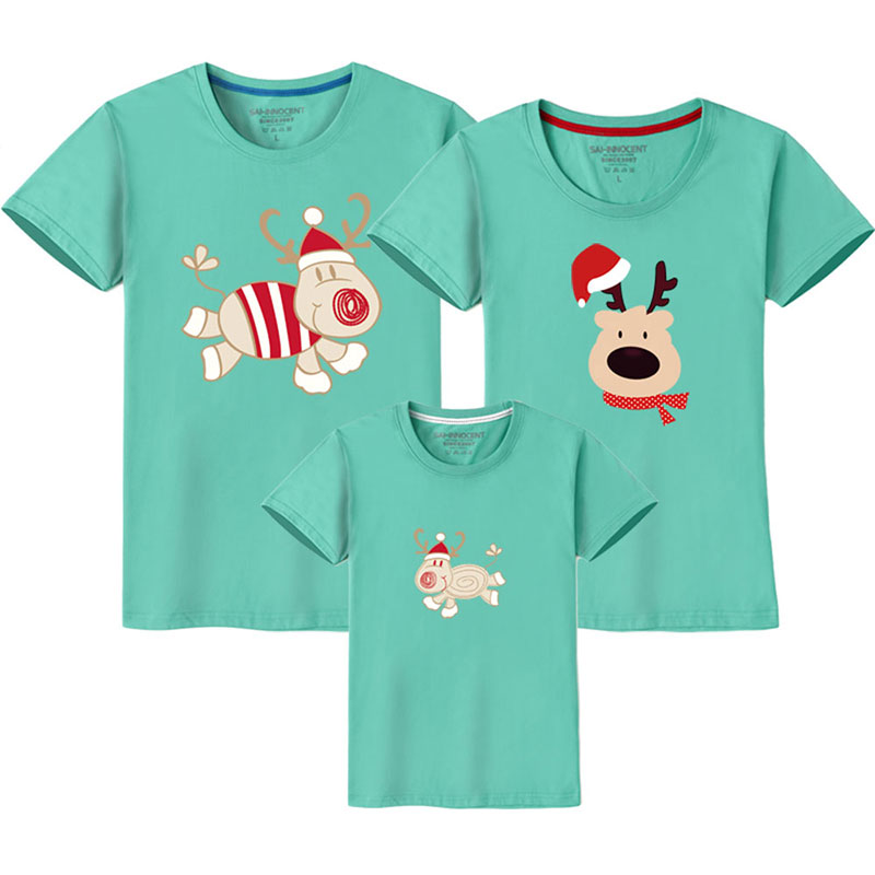 HTB17C6TUMHqK1RjSZFgq6y7JXXaM - Father Son Clothes Family Look Christmas Family Matching Outfits T Shirt Mother Daughter Short Sleeve Dad Mom Baby Family Suit