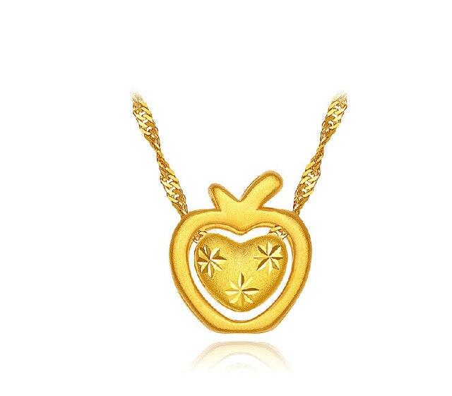 Authentic 999 3d 24k yellow gold heart apple pendant in pendants authentic 999 3d 24k yellow gold heart apple pendant aloadofball Images