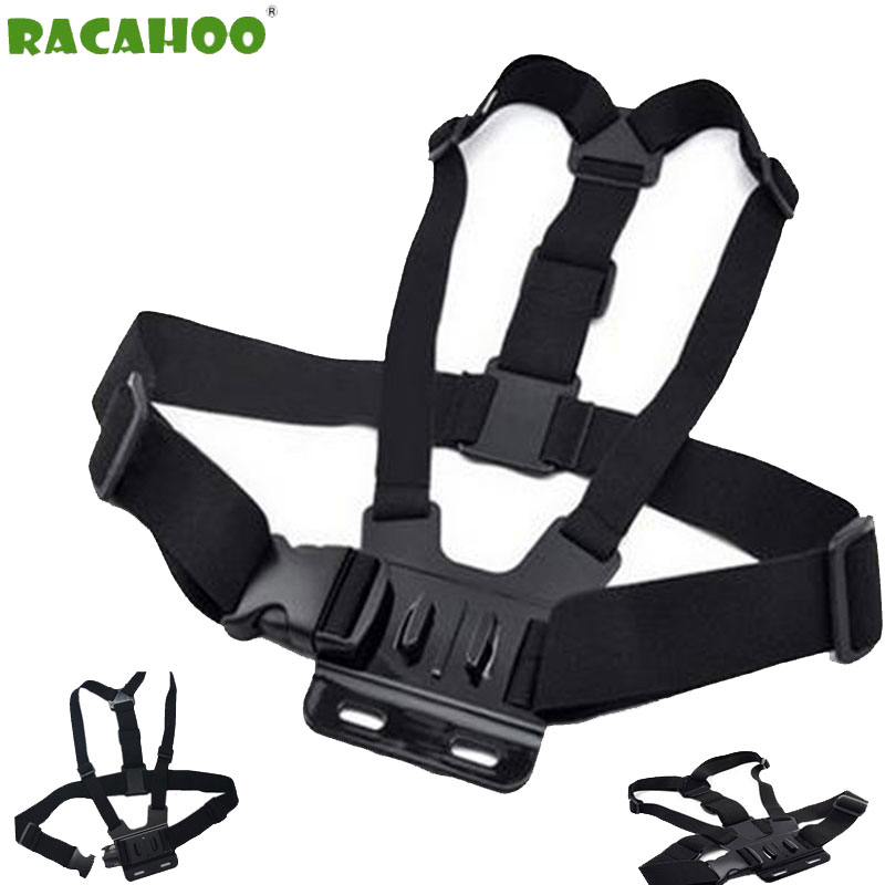 RACAHOO Sports Camera Strap With Chest Strap Shoulder Comfort And Decompression For gopro hero4 / 3 + 3/2 series Camera