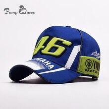 2017 High Quality MOTO GP 46 Motorcycle 3D Embroidered F1 Racing Cap Men Women Snapback Caps Rossi VR46 Baseball Cap YAMAHA Hats